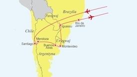 Pięć krajów Ameryki Południowej - Chile - Argentyna - Urugwaj - Paragwaj - Brazylia