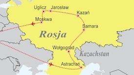 Rejs rzeką Wołgą