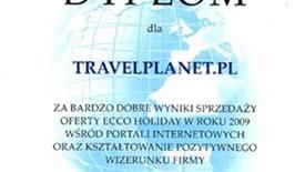 Dyplom od Biura Podróży Ecco Holiday