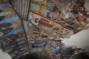 Fresk w bizantyjskiej świątyni