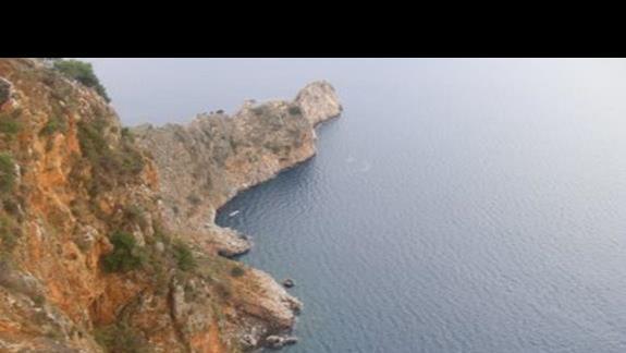Widok z twierdzy na morze - Alanya paLdziernik 2008