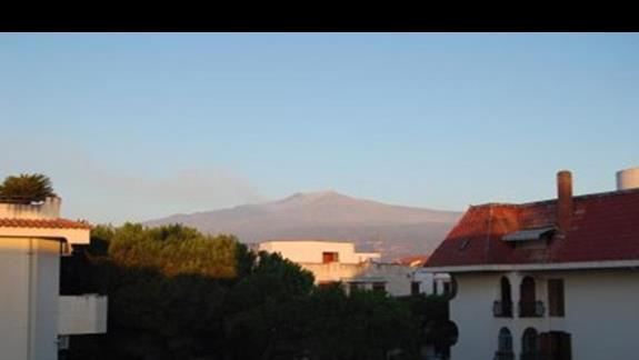 Widok z balkonu na Etne