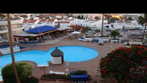widok na basen