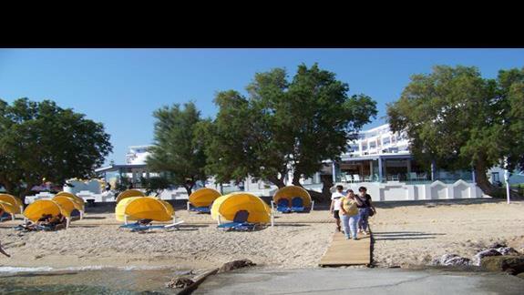 plaża koło hotelu