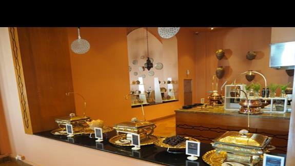 Kącik arabski w restauracji głównej