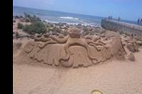 Maspalomas - Rzeźby z piasku na plaży w Maspalomas