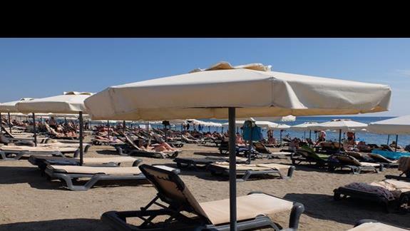 plaża w hotelu Princess Adriana