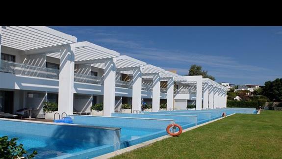 prywatne baseny w pokojach w hotelu Princess Adriana