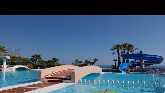 zjeżdżalnia w hotelu Mitsis Rodos Village