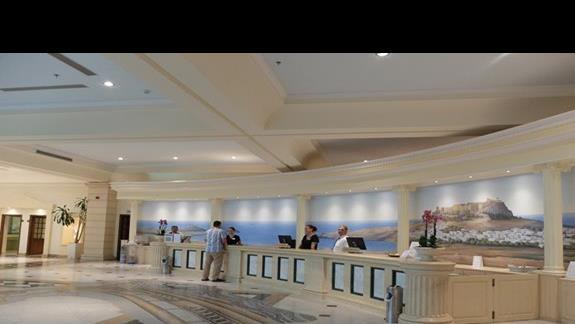 recepcja w  hotelu Lindos Princess