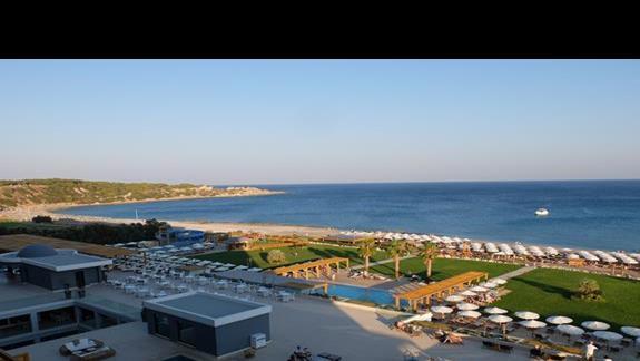 widok z okna w hotelu Mitsis Alila