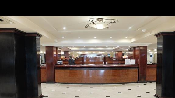 recepcja w hotelu Mitsis Grand