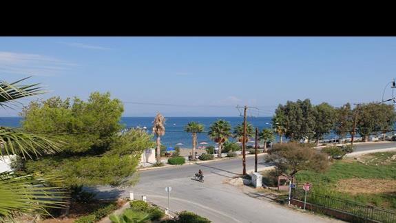 widok z okna w hotelu Palm Beach