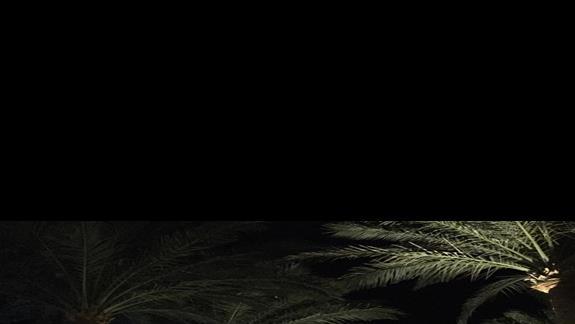 Wieczorem przy basenach