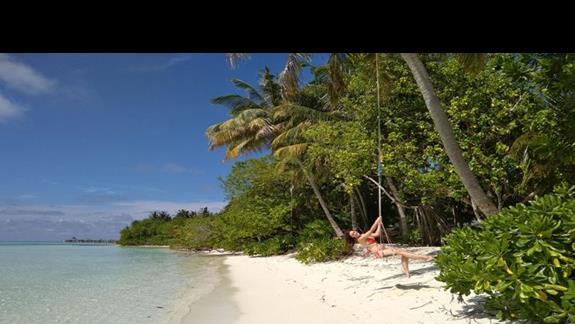 plaża z huśtawkami