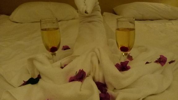 romantyczny wieczór przy tureckim szampanie :)