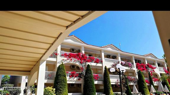 hotel- widok z tarasu