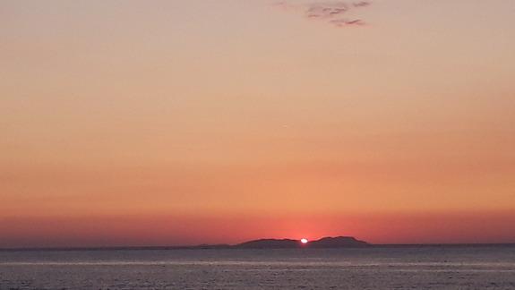 Zachód słońca w Acharavi