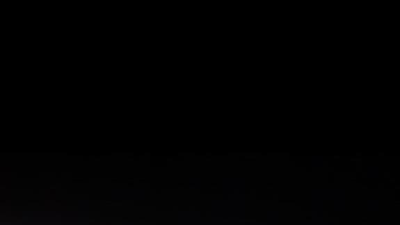 Wieczorny widok z tarasu na 10 piętrze