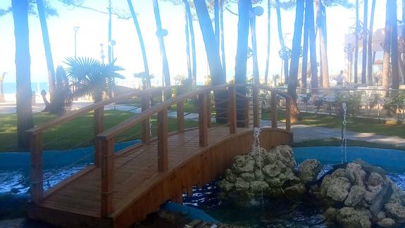 Ogród w hotelu Diamma Resort