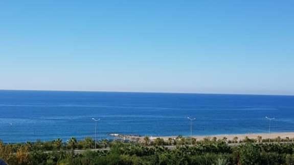 Widok z balkonu na morze