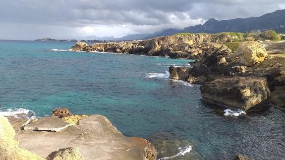 Widok z plaży przy hotelu