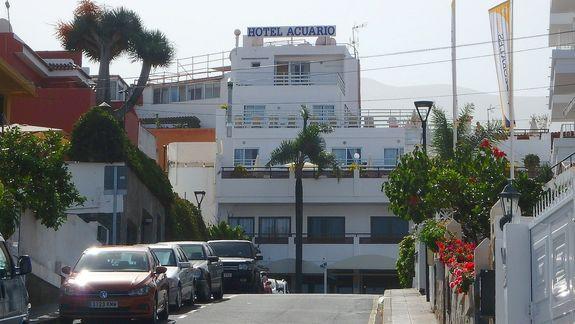 Hotel ACUARIO od frontu - Teneryfa.