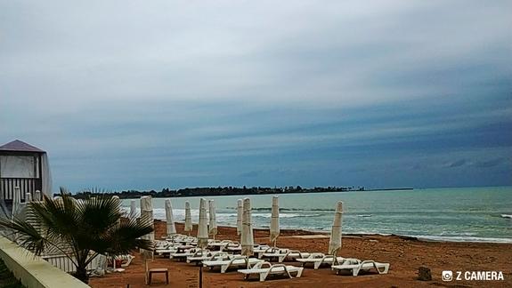 Plaża zimą