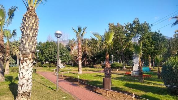 Park obok hotelu