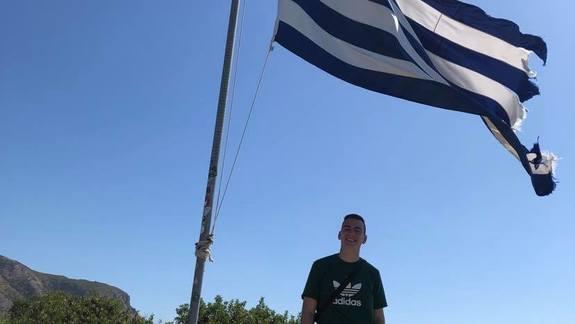 pamiatka z flaga Grecka