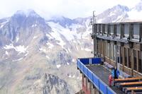 Hotel Blu Senales - widok z hotelu na lodowcu