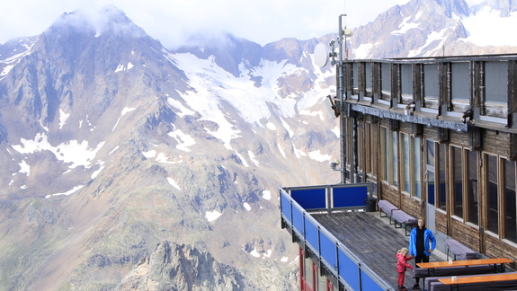widok z hotelu na lodowcu
