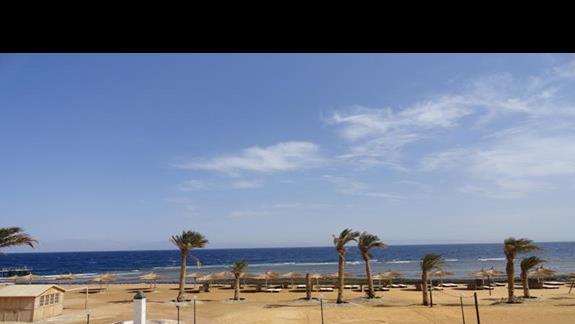 widok na plażę