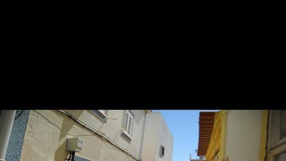 uliczka w starej części miasta