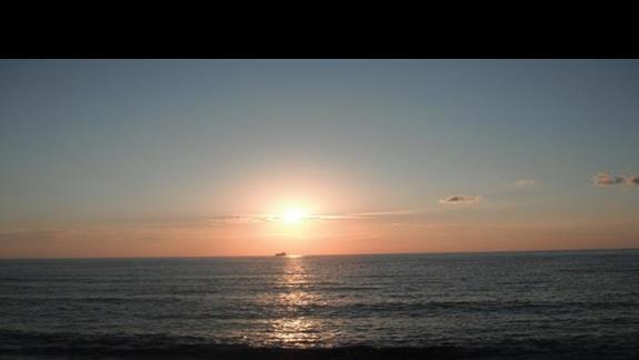 Zachód słońca z balkonu