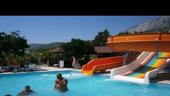 basen ze zjeżdżalnią czynną tylko 1 godzine