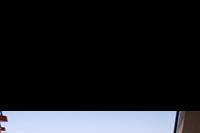 """Hotel Pinkovi - """"Pinkowi"""" widok z balkonu - boczny pokój od strony ogrodu."""