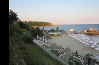 """Hotel Pinkovi - """"Pinkowi""""- plaża wieczorem."""