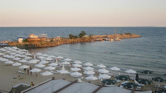 Plaża - widok z tarasu.