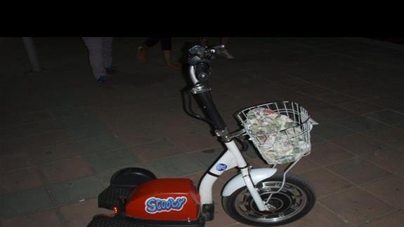 trójkołowy elektryczny rowerek