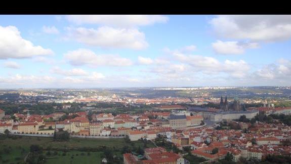 Panorama Pragi z wieży Eiffla