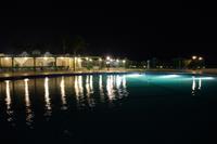 Hotel Magawish Village Resort - mniejszy basen i restauracja główna