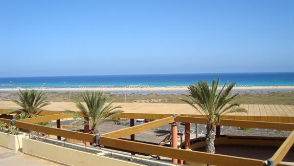 Widok z hotelu na ocean
