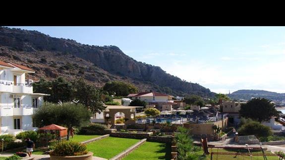 Ogród i widok na basen.
