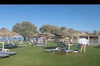 Hotel Geraniotis Beach - Hotel Geraniotis - trawiasty ogród