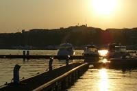 Hotel Globus - zachód słońca w porcie -  stary Nesebar
