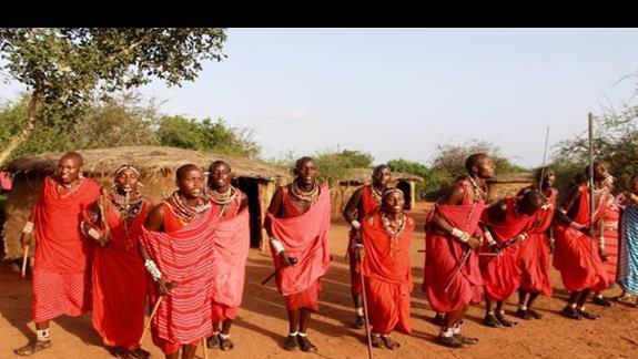odwiedziny wioski Masajów
