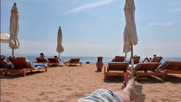 Pelen relaks i pogoda idealna do dlugich godzin plazowej kontemplacji :)