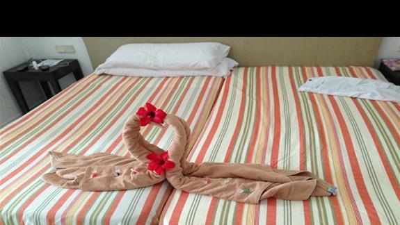 Łabędzie z ręcznika :)