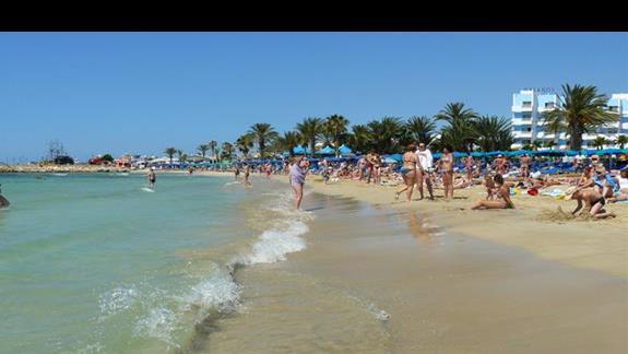 plaża przy porcie - najwieksza w okolicy